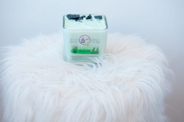 Bloom Soy Wax Glass Candle